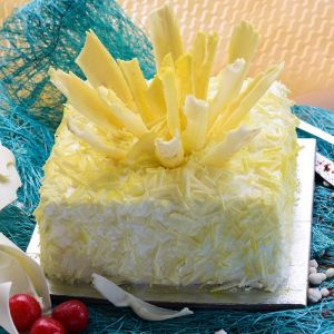 Flaky White Forest Cake