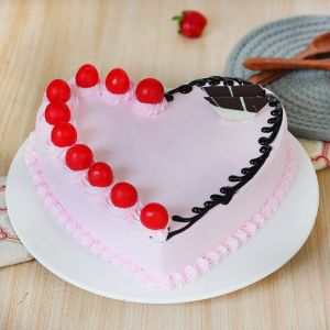 Topping of Cherry Strawberry Cake